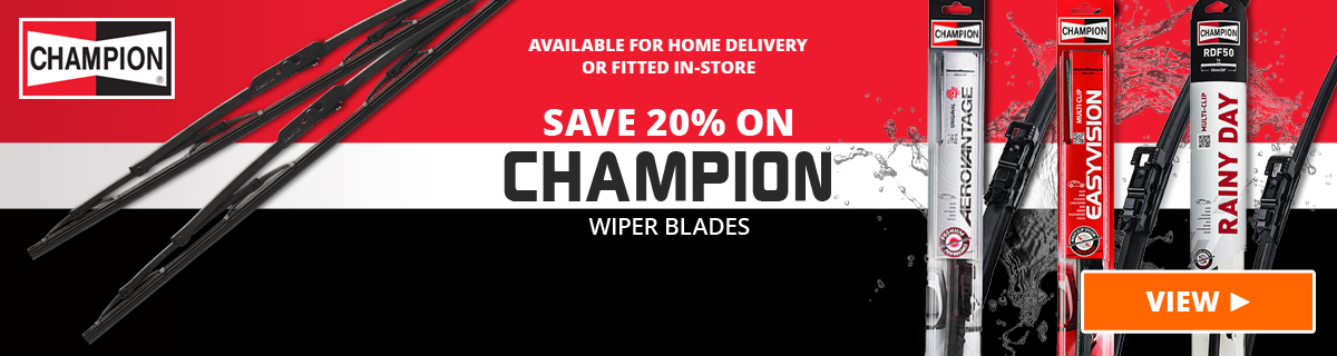20% Off Champion Wiper Blades