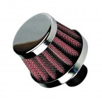 Image for Universal Breather Air Filter 15mm Neck - Silver Red