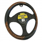 Image for Smooth Wood Effect Steering Wheel Cover with Massage Effect