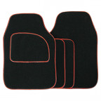 Image for Streetwize Carpet Mat Set - Black/Red