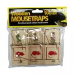 Image for Kingfisher Traditional Wooden Mousetraps - 3 Pack