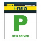 Image for Stick and Tie on Magnetic New Driver 'P' Plates - Pack 2