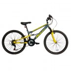 "Image for Falcon Neutron Mountain Bike - Grey/Yellow - 24"" Wheels"