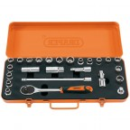 Image for Retro Socket Set 25 Piece 1/2in MM/AF