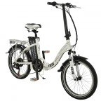 "Image for Falcon Flux Folding E-Bike - White - 20"" Wheels"