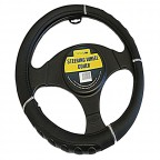 Image for Luxury All Black Steering Wheel Cover