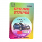 Image for 12mm Styling Stripe - Pin Red - 10m