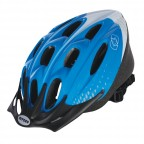 Image for F15 Blue/White Cycle Helmet - Medium