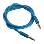 Image for 3.5mm to 3.5mm AUX Braided Cable - Blue
