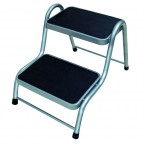 Image for Double Steel Caravan Step - Silve/Black