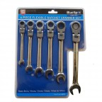 Image for 6 Piece Blue Spot Ratchet Spanner Set with Flexible Heads