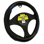 Image for Luxury Padded Black Steering Wheel Cover