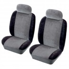 Image for Heritage Front Seat Cover Set - Black