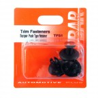 Image for Bumper Push Type Retainer - Black (Toyota)