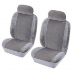 Image for Heritage Front Seat Cover Set - Grey