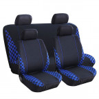 Image for Blue Check Seat Cover Set