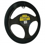Image for Plush Thick Black Steering Wheel Cover