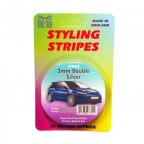 Image for 2mm Double Styling Stripe - Silver - 10m