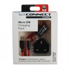 Image for TechConnect Micro USB Charging Kit - Black/Red