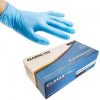 Image for Classic Pro Blue Nitrile Gloves - Large (Box 100)