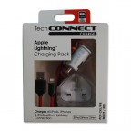 Image for TechConnect Apple Device Charging Kit - White/Red