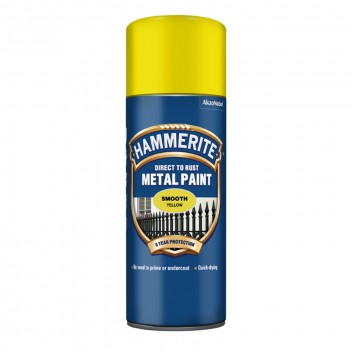 Image for Hammerite Metal Paint - Smooth - Yellow - 400ml Aerosol