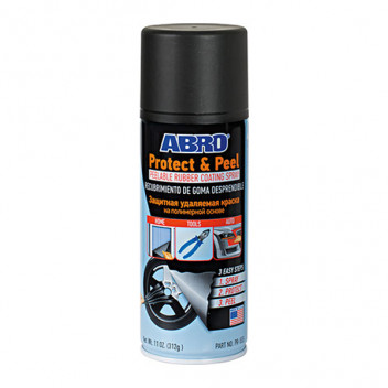 Image for Abro Peelable Rubber Coating Spray Black Paint- 500ml