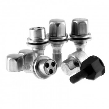 Image for Locking Wheel Nut and Bolt Set - Citroen Peugeot