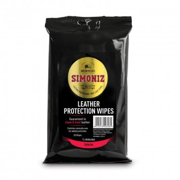 Image for Simoniz Black Leather Protection Wipes 20 Pack