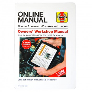 Image for Haynes Manual Online Subscription Code