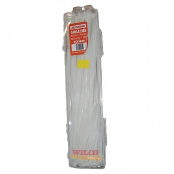 Image for Cable Ties 300mm x 4.8mm Natural - Pack 100