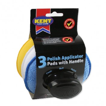 Image for Polish Applicator Pads with Handle - Pack 3
