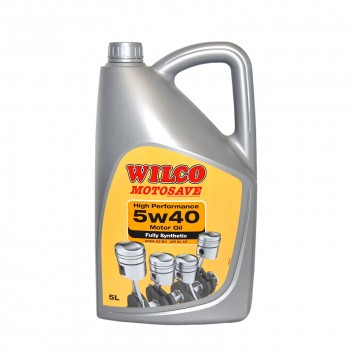 Image for Wilco 5w-40 Fully Synthetic Motor Oil - 5 Litres