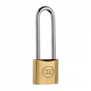 Image for Tri-Circle Brass Long Shackle Padlock L263/32mm