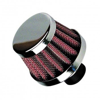 Image for Universal Breather Air Filter 18mm Neck - Silver Red