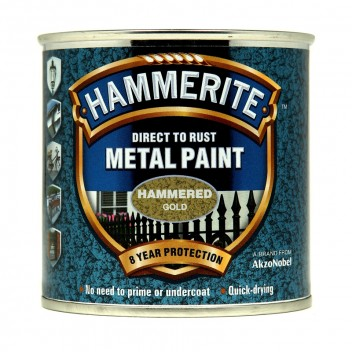 Image for Hammerite Metal Paint - Hammered - Gold - 250ml