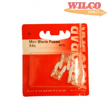 Image for Mini Blade Fuses 25 Amp - Pack 3
