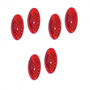 Image for Reflectors - Red Oval - Pack 6