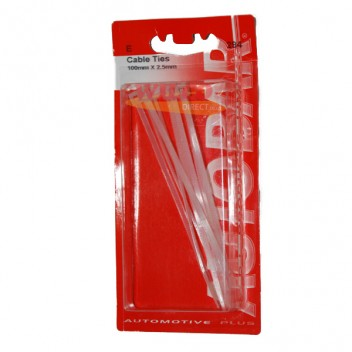 Image for Cable Ties 100mm x 2.5mm - Pack 8