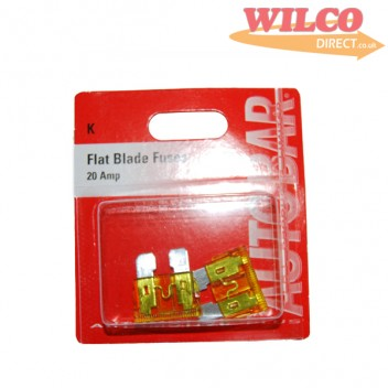 Image for Flat Blade Fuses 20 Amp - Pack 3