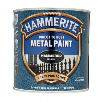 Image for Hammerite Metal Paint - Hammered Finish - Black - 2.5 Litres