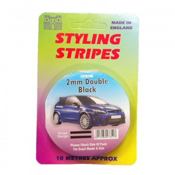 Image for 2mm Double Styling Stripe - Black - 10m