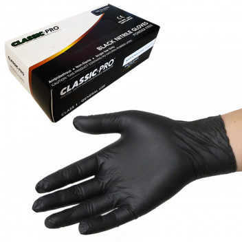 Image for Classic Pro Black Nitrile Gloves - Extra Large (Box 100)