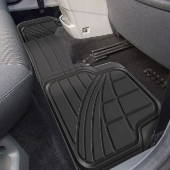 Image for Deluxe Rubber Car Mat Set with Full Cross Rear