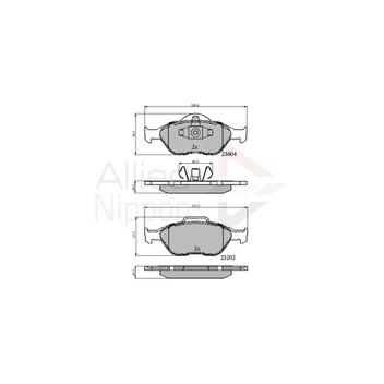 Ford Street Ka 1.6 Genuine Allied Nippon Front Brake Pads Set