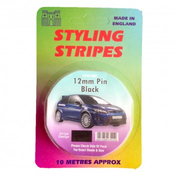 Image for 12mm Styling Stripe - Pin Black - 10m
