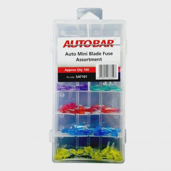 Image for Assorted Auto Mini Blade Fuses - Pack 100
