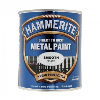 Image for Hammerite Smooth White Metal Paint 750ml
