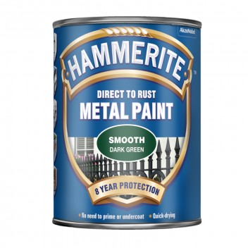 Image for Hammerite - Smooth - Dark Dreen Metal Paint - 750ml
