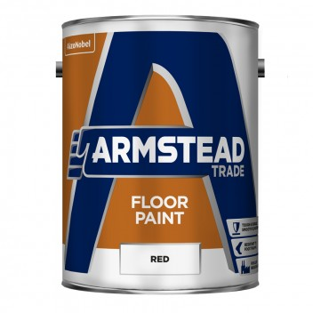 Image for Armstead Red Floor Paint 5 Litre